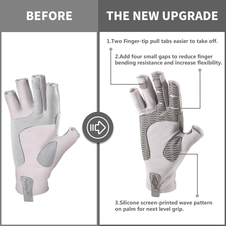Sun Men Women For AQUA Sky Small UV Protection Fishing Fingerless Gloves UPF50