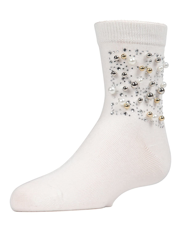 MeMoi Starry Night Bejeweled Socks Girls Crew Socks