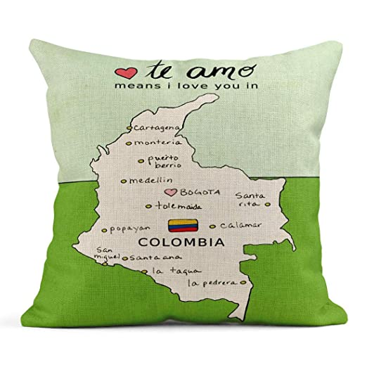Happy Sunday Throw Pillow Cover Case Colombia Travel ...