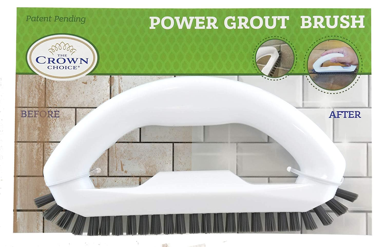 Bathroom Tiles Grout Cleaner Brush with Stiff Angled Bristles Best Scrub Brushes for Shower Cleaning Seams Showers Scrubbing Floor Lines and Tile Joints