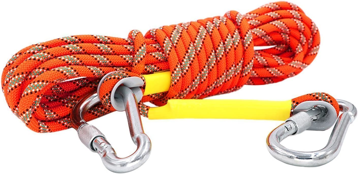 Cuerda de Escalada Estática con 2 Mosquetones, Paracord para ...