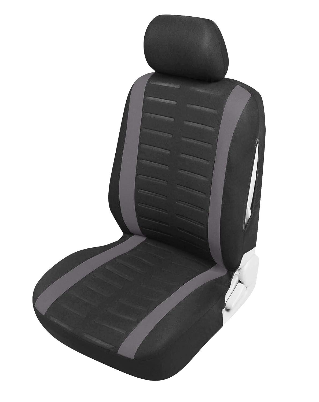 Upgrade4cars Auto-Sitzbez/üge Vordersitze Schwarz Grau Auto-Zubeh/ör Innenraum Auto-Schonbez/üge Set Universal mit Seitenairbag /Öffnung