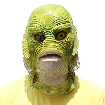 PartyCostume Máscara de Cabeza Animal de Látex de Fiesta de TrajeLujo de Halloween de Pescado
