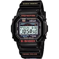 Casio 卡西欧男式 GWX-5600-1JF G-Shock G-Lide 坚韧太阳能收音机手表[日本进口]