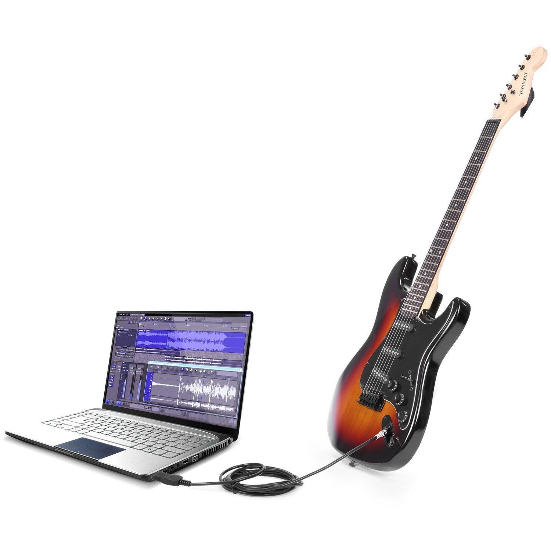 J & Q mundo (R) profesional guitarra para grabación de PC USB Link ...