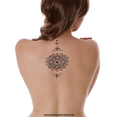 Pulsera Verano Tattoo Mandala – Negro Fake Flash de tatuaje Tattoo ...