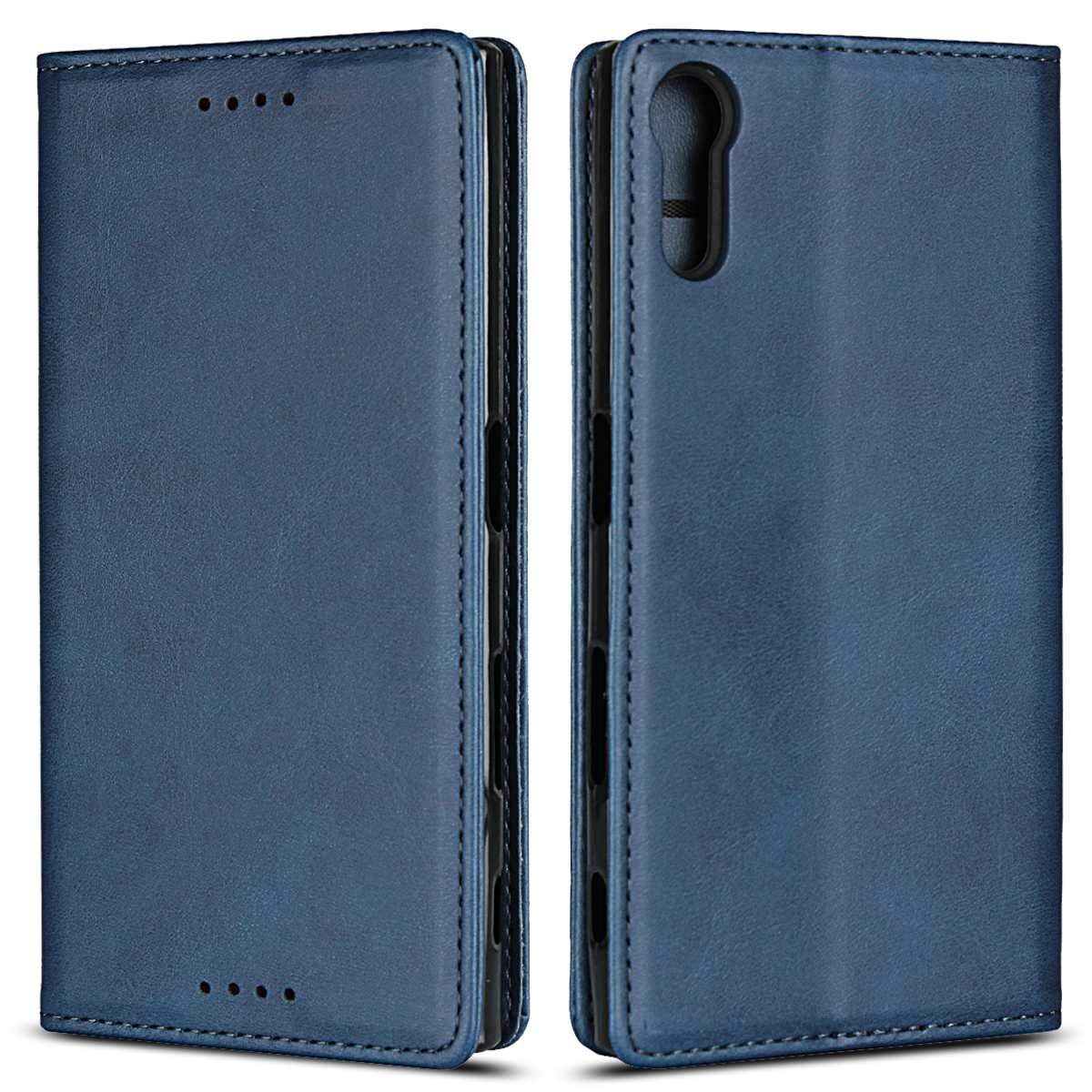 BoxTii Galaxy Note 8 Hü lle, Retro Kalbsleder Design PU Lederhü lle Standfunktion Hü lle mit Frei Panzerglas Displayschutzfolie fü r Samsung Galaxy Note 8 (Rot) BODE22-N8-D04