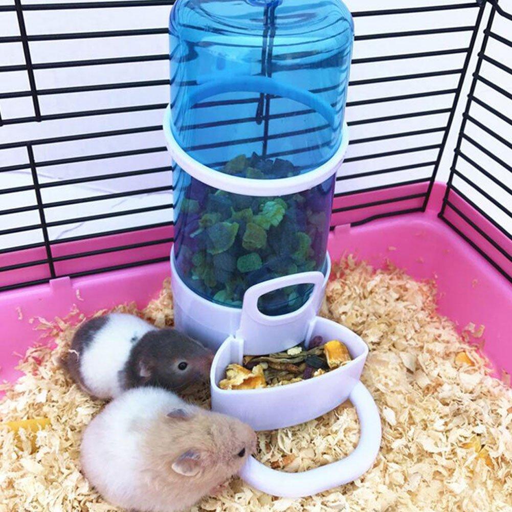 Yuccer Hámster Botella de Agua, Comedero Automático de Alimentos para Mascotas, Cobayas, Hurones, Conejos and Pájaro (1 Pack): Amazon.es: Productos para ...
