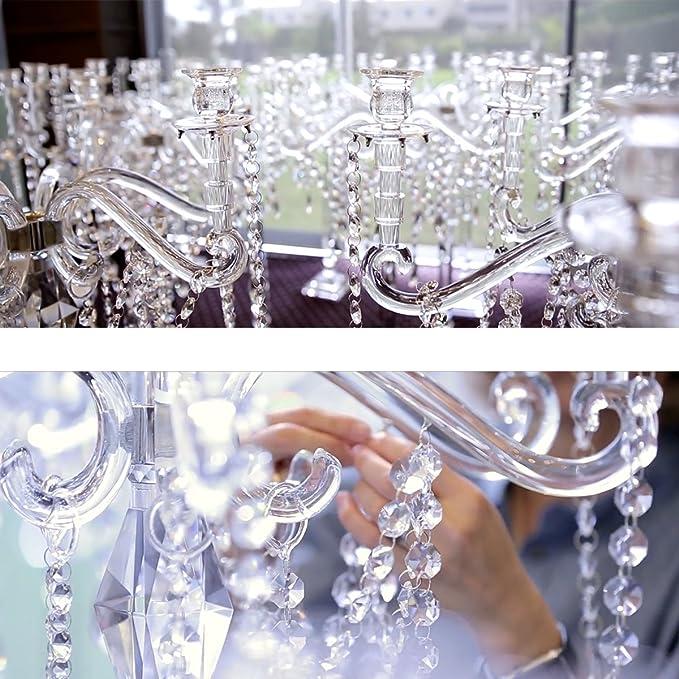 Amazon.com: xgpie 17 ft Real vidrio Perlas de vidrio Claro ...
