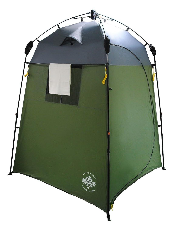 Lumaland Outdoor Pop Up Tienda de campa/ña Ducha Aseo Privacidad Camping 155x155x220 Verde