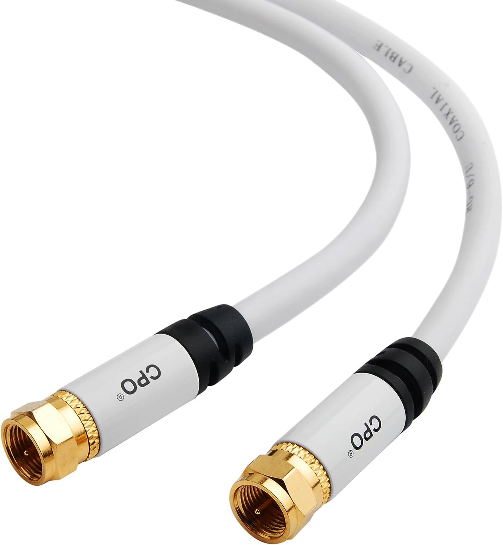 CPO® - Cable coaxial de televisión Tipo F RG6 para decodificadores ...