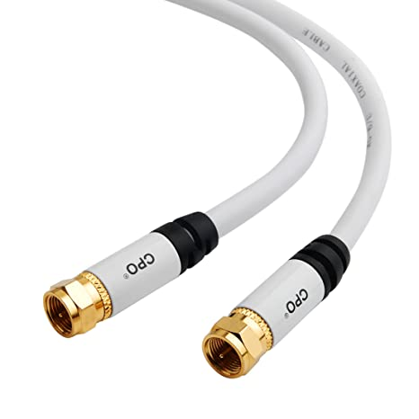 CPO® RG6 - Cable coaxial Tipo F de televisión para Sky TV, Virgin y