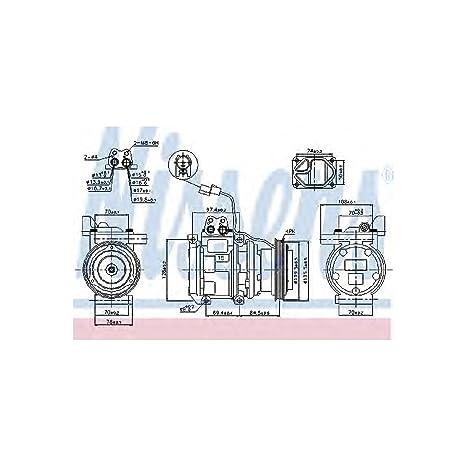 Nissens 89289 Compresor, aire acondicionado