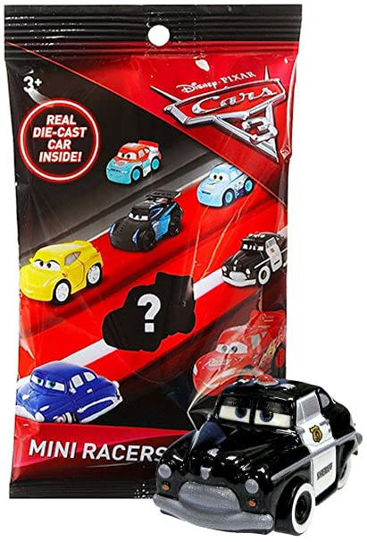amazon com sheriff cars 3 die cast mini racers in sealed bag plus