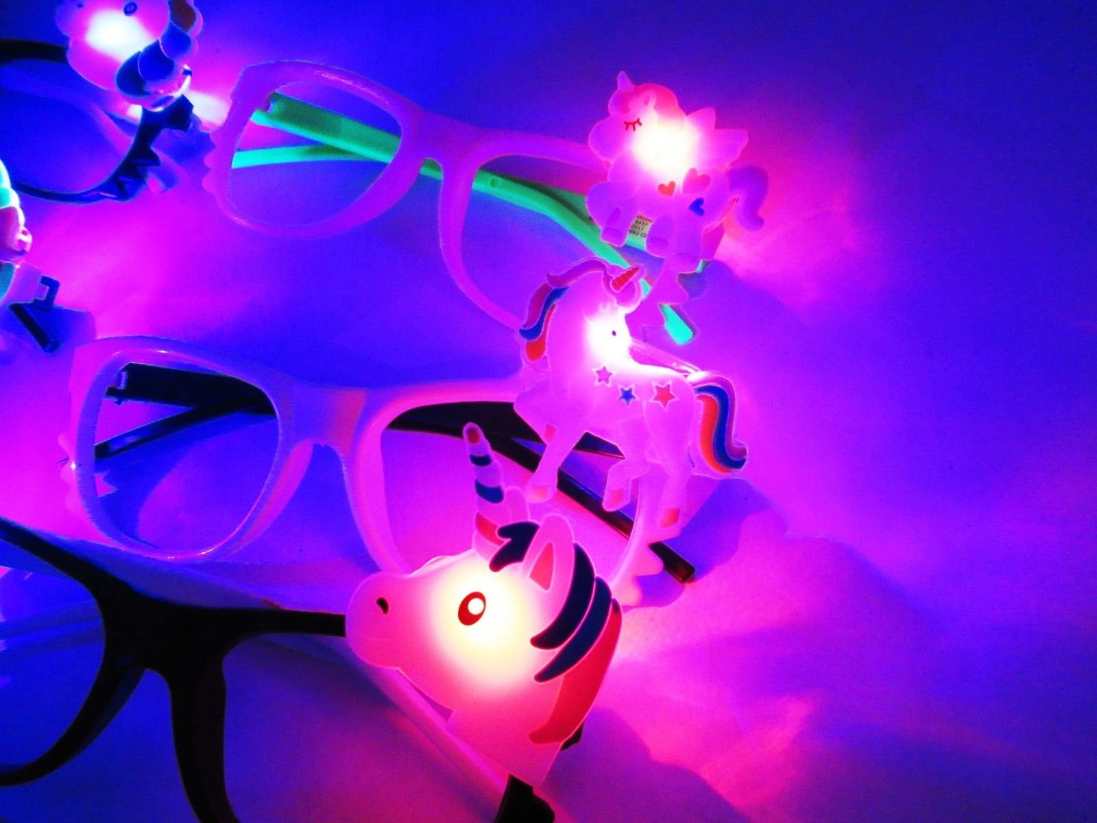 Toycamp 12/pk Flashing Lensless Assorted Unicorn Glasses LED SunGlasses Rave Party Wear by Toycamp (Image #3)