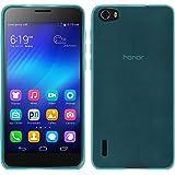 PhoneNatic Custodia Huawei Honor 6 trasparente turchese Cover Honor 6 in silicone + pellicola protettiva