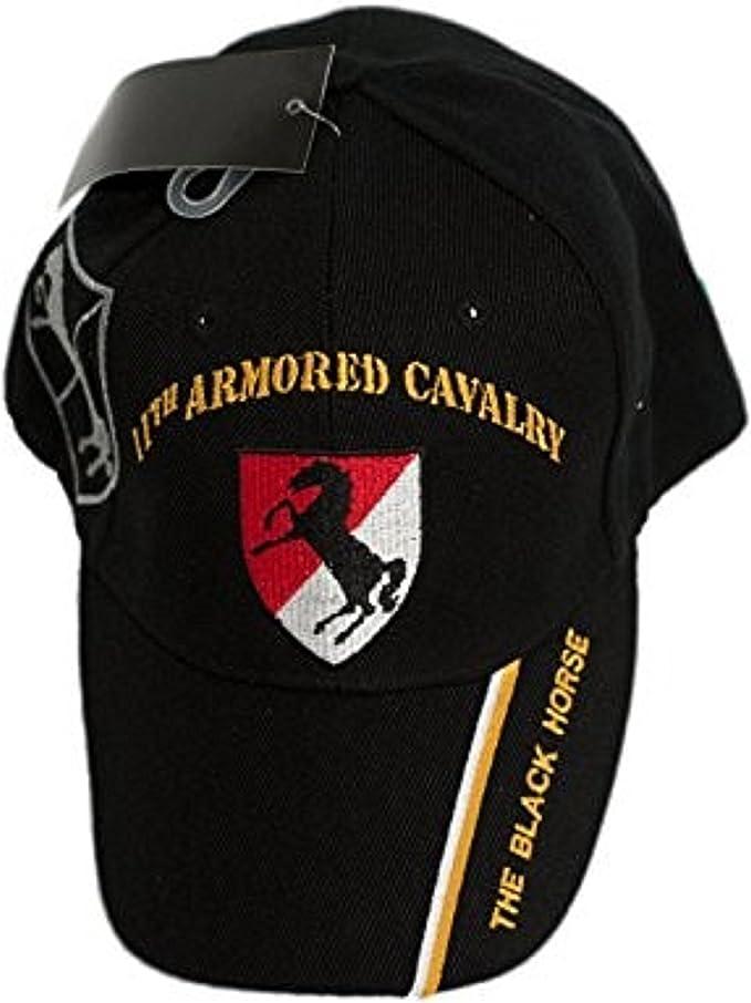 "11TH ARMORED CAVALRY /"" THE BLACK HORSE /"" BALL CAP LICENSED CAP"