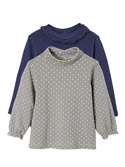 VERTBAUDET Lote de 2 Camisetas de Cuello Alto para bebé niña: Amazon.es: Ropa y accesorios