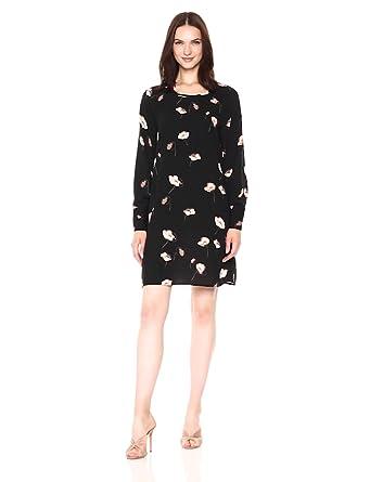 82f92fa8d53 VERO MODA Women s Mia Floral Print Long Sleeve Mini Dress at Amazon ...
