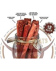 Keto Sugar Free Sampler Pack Grass Fed Beef Sticks & Bars & Healthy Free Range Turkey Sticks Gluten MSG Nitrate & Nitrite Free Paleo Friendly Snacks