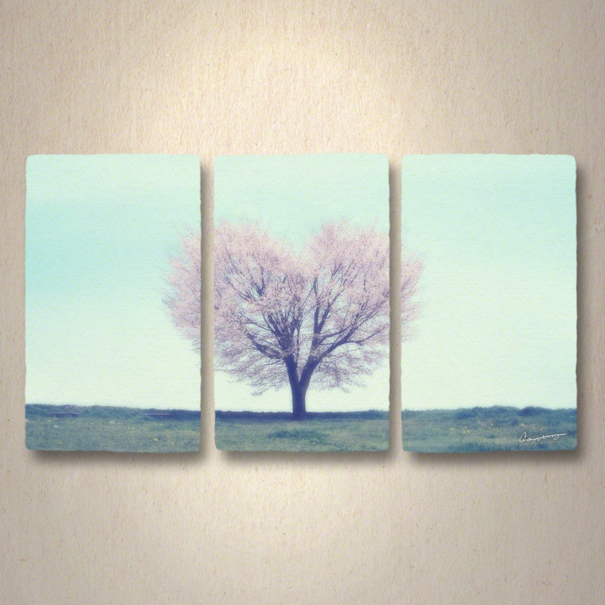 和紙 アートパネル 3枚 続き 「丘の上のハートの桜の木」 (144x81cm) 結婚祝い プレゼント 絵 絵画 壁掛け 壁飾り インテリア アート B076YNVHHQ 36.アートパネル3枚続き(長辺144cm) 250000円|丘の上のハートの桜の木 丘の上のハートの桜の木 36.アートパネル3枚続き(長辺144cm) 250000円