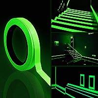 2PCS lichtgevende tape, 10m x 10mm glow in dark tape waterdichte fluorescerende plakband waarschuwingstape voor trappen…
