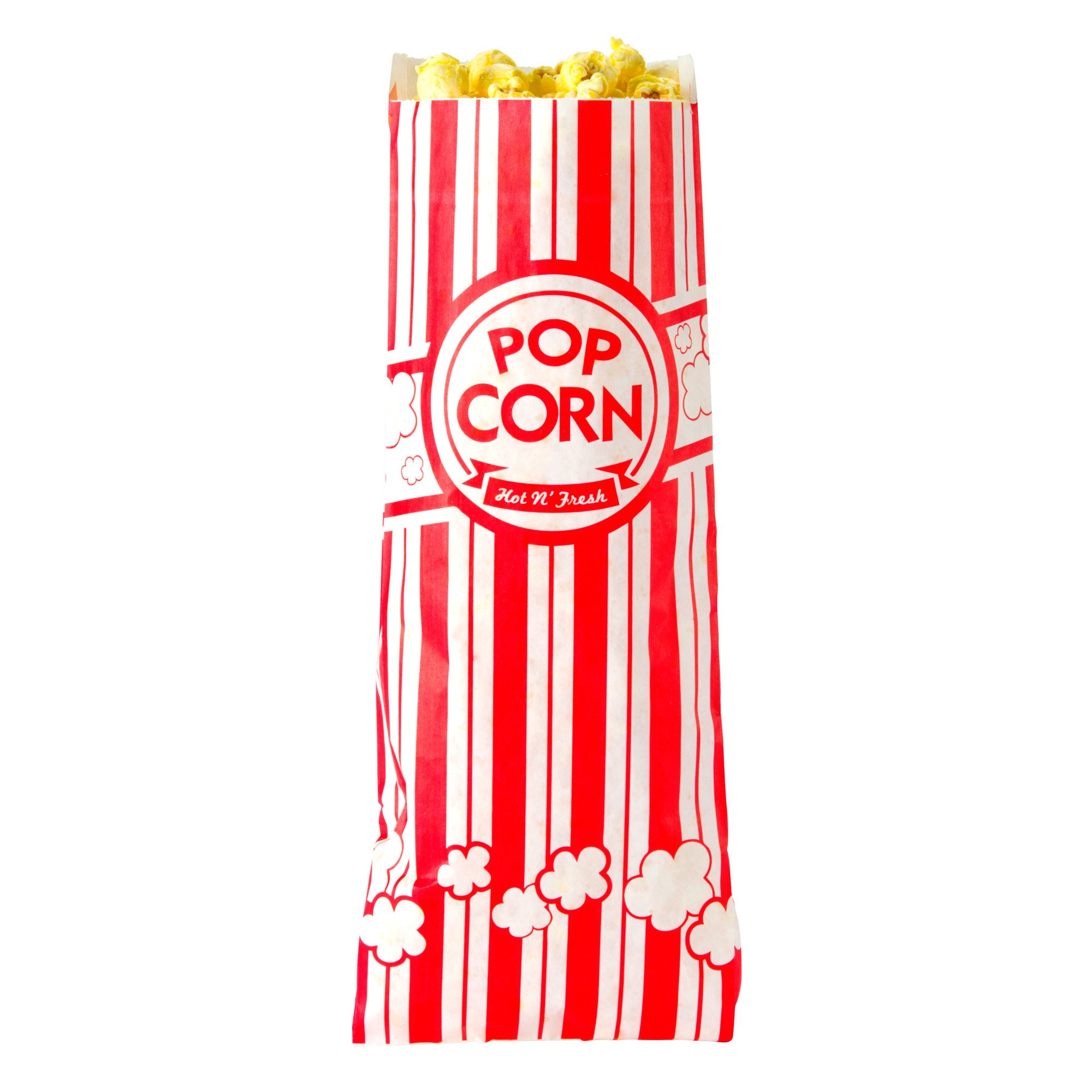 Concession Essentials CE Popcorn Bags-500 Popcorn Bags, 1 oz. (Pack of 500), 2'' Height, 3'' Width, 8'' Length (Pack of 500)