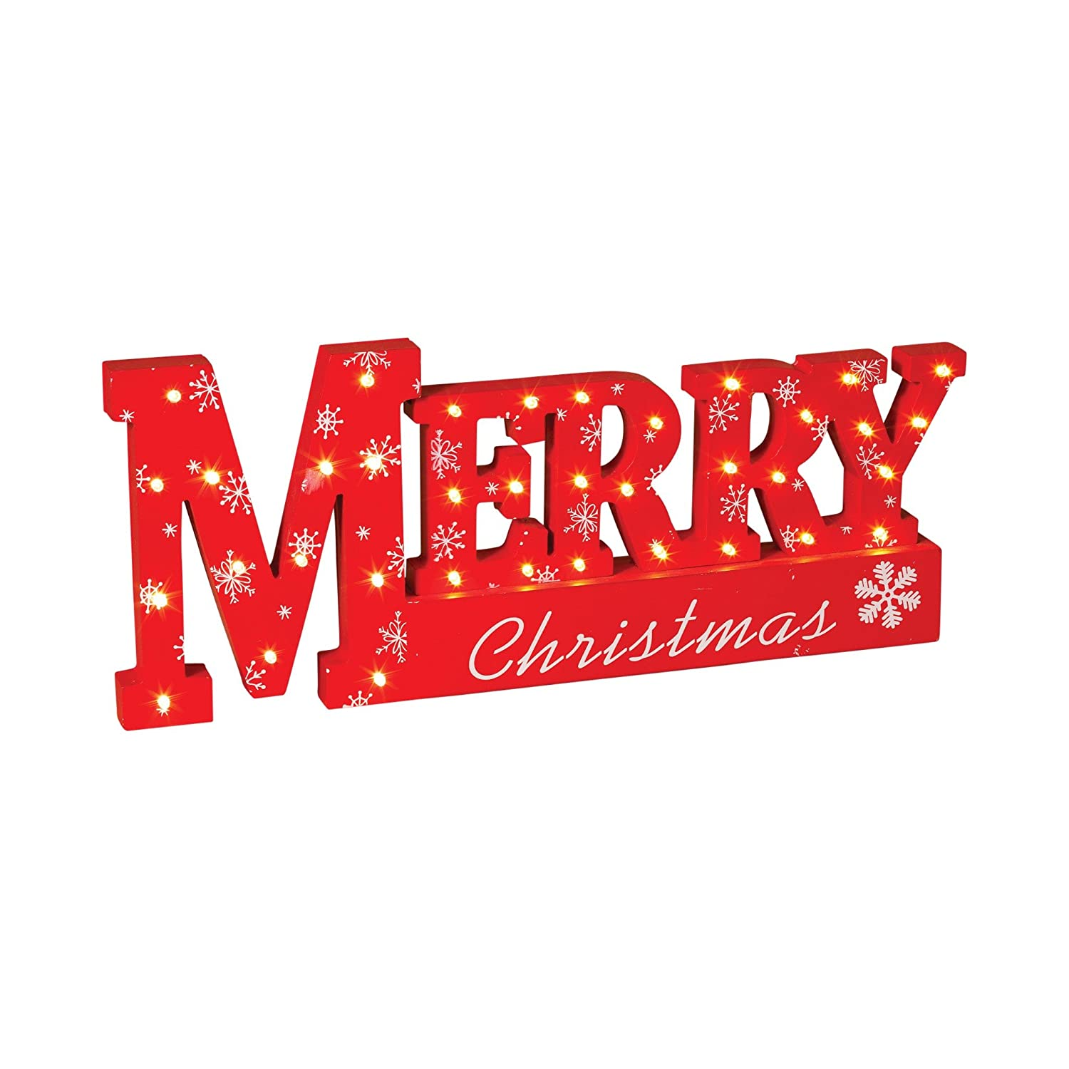 Merry Christmas Marquee Light Up Sign 17