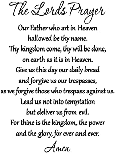 The Lord's Prayer Bible Wall Decal Our Father Vinyl Wall Art Scripture Quote Faith Home Christian Decor Stickers