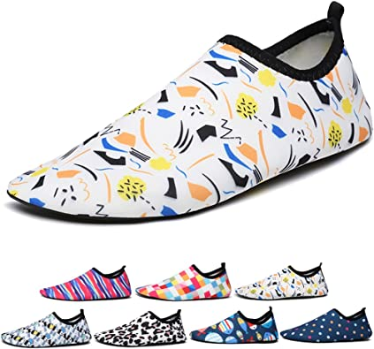 Kids Beach Shoes Swim Water Shoes Swim Shoes Boys Girls Aqua Socks Barefoot Aqua Skin Shoes for Children Pool Surfing Seaside Sport
