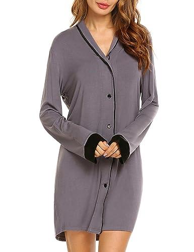 Nachthemd T-Shirt Damen 20% Off Still Pyjama Nachtwäsche Lange Hülsen Schlafanzugoberteil Schwangere Schlafkleid