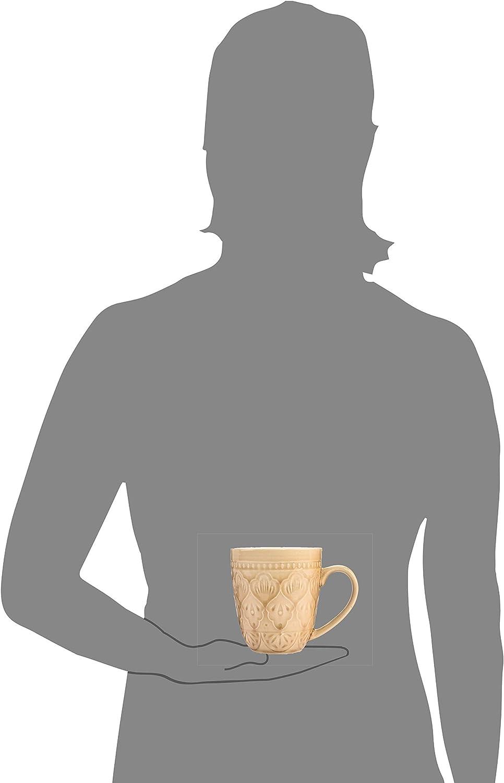 Porzellan Geschirrset Design S/änger/Kaffeebecher Set/Bari aus Porzellan/4/teiliges Set mehrfarbiges/Service f/ür 4 Personen -/F/üllmenge der Tassen ml -/Vintage,/Becherset farbig