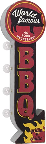 American Art Decor World Famous BBQ Vintage LED Marquee Sign Wall Decor