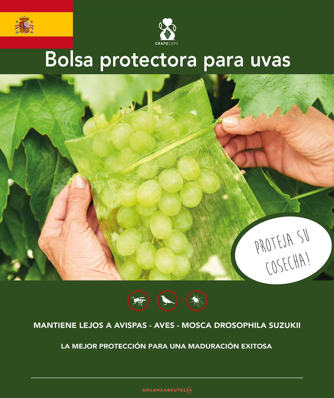 Protectoras 50 Avispas De Organza Contra Mordeduras CorredizoBolsa Bolsas Cordón Protección UvasTamaño30x20cmColorVerdeCon Para GMSzqpUV