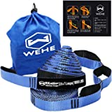 Hammock Straps Extra Strong & Lightweight,2000LBS Breaking Strength,100% No Stretch Polyester,Tree Friendly,Quick&Easy Setup Best Suspension System