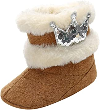 Baby Girl Boy Newborn Winter Warm Boots Toddler Infant Soft Socks Booties  K7T