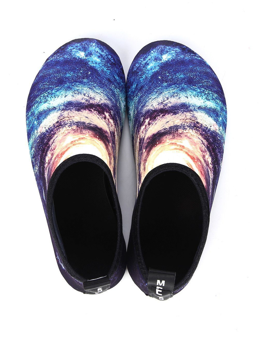 MANYITE Water Sports Shoes Summer Beach Swim Yoga Quick Dry Relaxed Comfortable for Men Women (US Women5.5-6.5M/Men 5-5.5M, Starry-Galaxy)