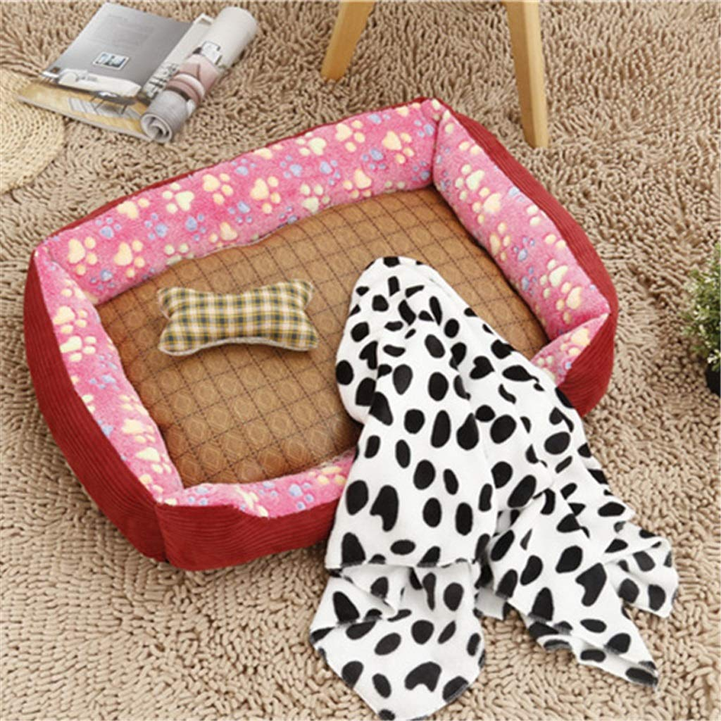 B 4530cmKennel GAOLILI Doghouse Warm Winter Teddy Bear Pet Nest gold Small And Medium Sized Dog Bed Mattress Dog Supplies (color   B, Size   45  30cm)