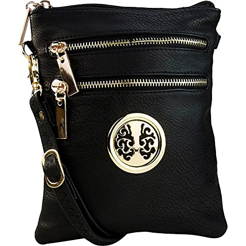 b0a944f146 MKF Collection by Mia K. Farrow Arabelle Crossbody (Black)  Handbags ...