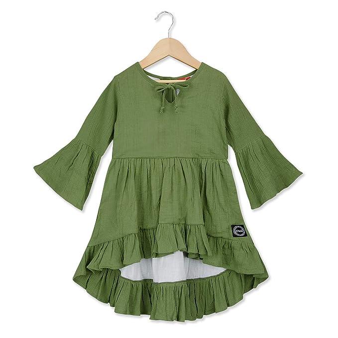 Olele® Girls Olive Green High Low Tunic
