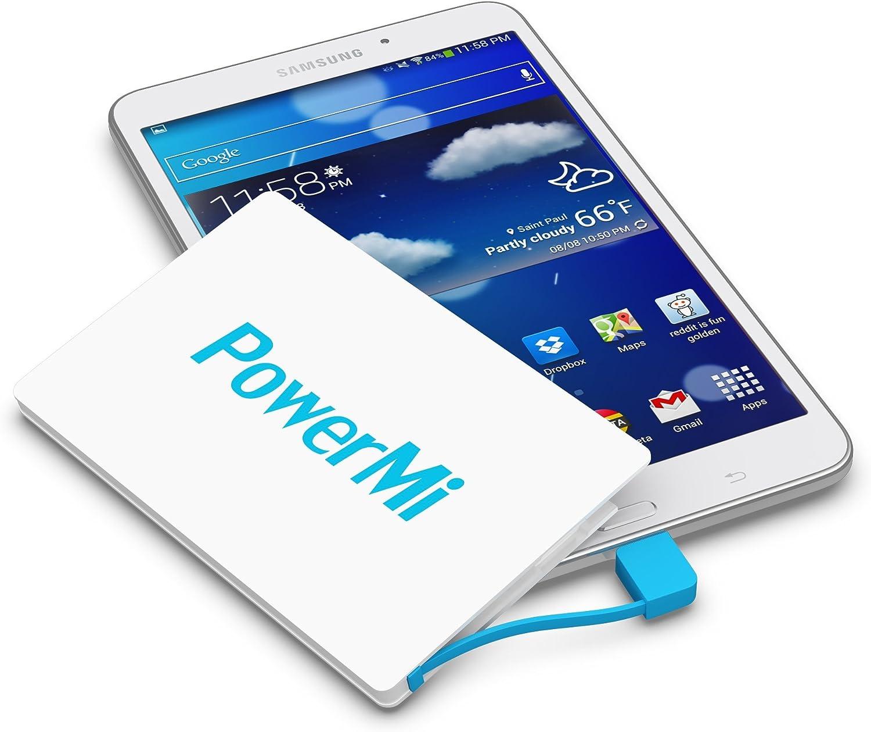 PowerMi Batería Externa Móvil tamaño Tarjeta de crédito – Compatible con Samsung Galaxy, iPhone – Cargador Externo portátil Ultra Delgado y Ligero – Power Bank Mini