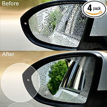 Amazon Com 4 Pcs Car Rearview Mirror Protective Film Jelaty Hd