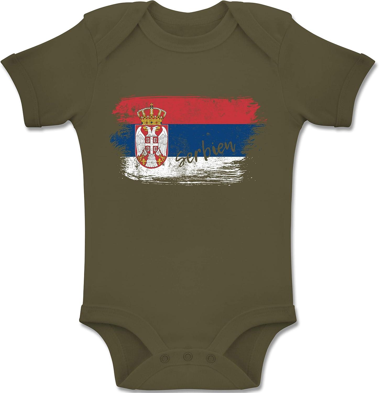 St/ädte /& L/änder Baby Serbien Vintage Baby Body Kurzarm f/ür Jungen und M/ädchen