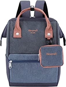 Himawari Travel Laptop Backpack for Men Women, Huge Capacity 15.6'' Computer Notebook Bag for School College Students(2268 Blue)