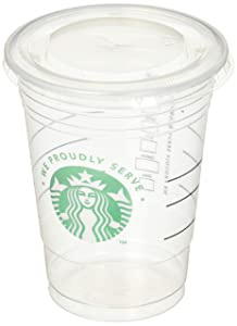 Starbucks Clear Disposable Cold Beverage Cup, 16 Ounce, and Lids (Pack of 50 each)