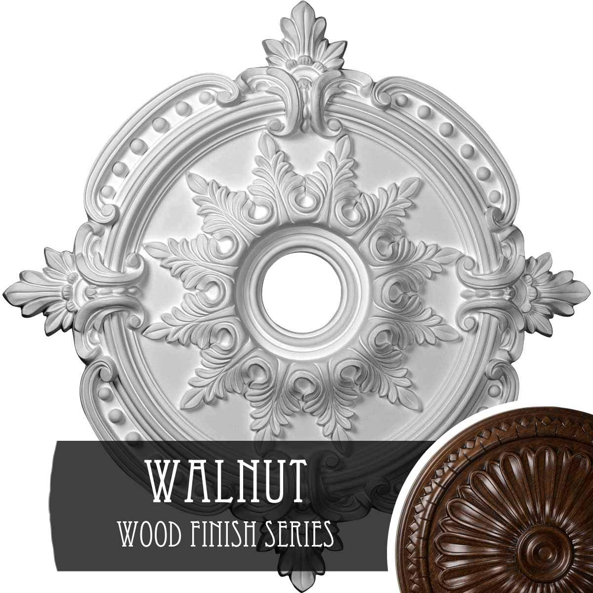 Platinum 28 3//8OD x 3 3//4ID x 1 5//8P Hand Painted Ekena Millwork CM28BEPLS Benson Classic Ceiling Medallion Fits Canopies up to 6 1//2