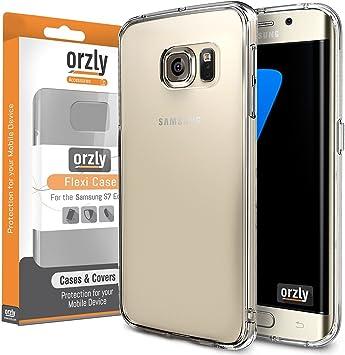 Orzly Funda para S7 Edge, FlexiCase para Samsung Galaxy S7 Edge ...