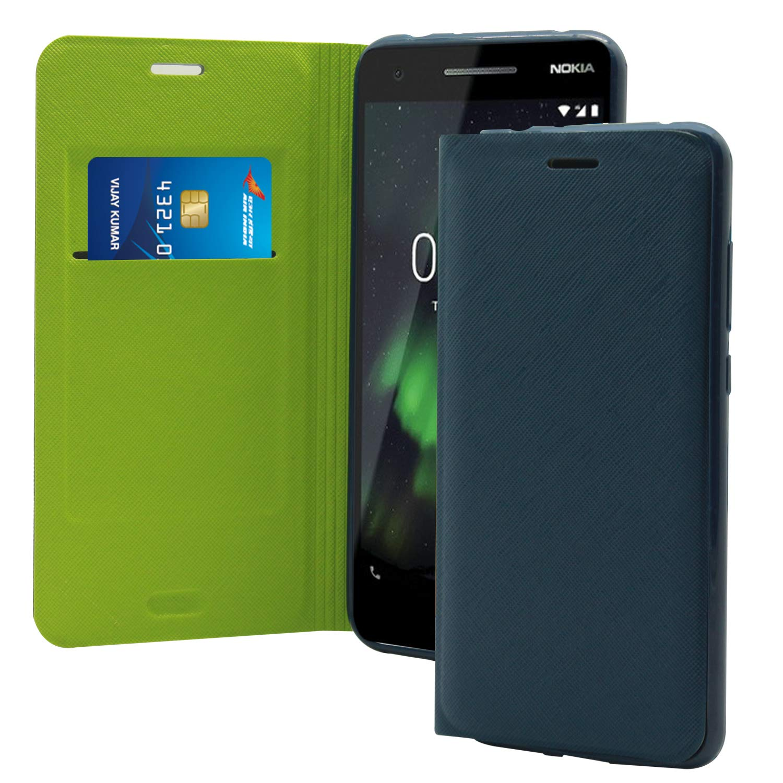 buy cheap 5dc43 adf47 Jkobi Premium Textured Flip Case Cover For Nokia 2.1 (Nokia 2 2018) -Royal  Blue