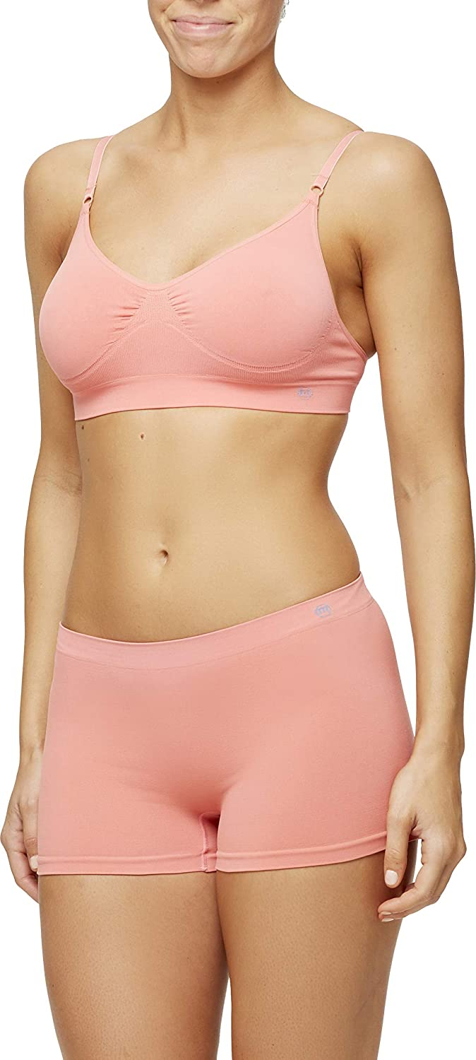 Miel Womens Nana Yoga Sports Bra Perfect Everyday Breathable Comfortable Wirefree Seamless Bralette