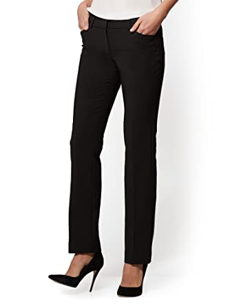 aa41c8043d1 Women s Straight Leg Pant - All-Season Stretch - 12 Black at Amazon Women s  Clothing store